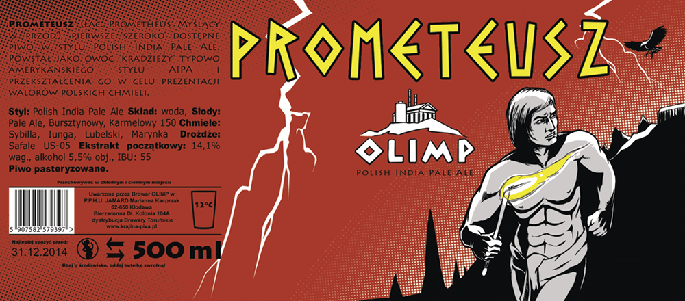 Browar Olimp - nowa etykieta Prometeusza