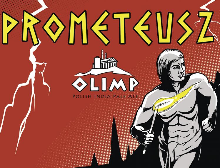 Prometeusz Browar Olimp nowa etykieta