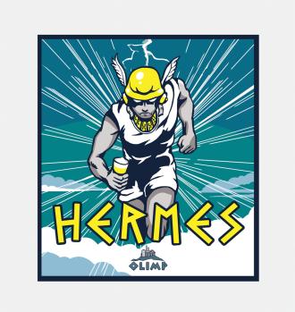 Browar Olimp - Hermes etykieta